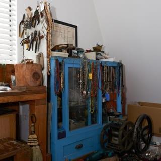 夫の趣味のスペース。ここの作業台から様々なものが作りだされる