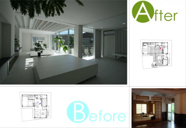 2階 リビングダイニング/大きな窓やトップライト、白い壁面などで開放的な明るさと広がりを演出