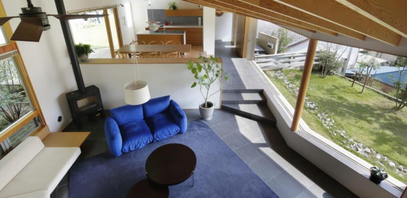 ここまで開放的な平屋だから、自然満喫と落ち着く空間を両立!