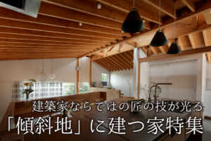 建築家ならではの匠の技が光る 「傾斜地」に建つ家特集