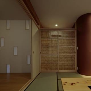 1階の和室と予備室は、引き戸を開けると1つの大空間としても使える。予備室はお子さまが帰ってきたときや、ゲストが宿泊するときなどに重宝する