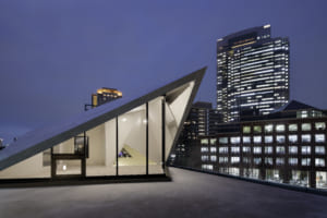 折板屋根の家