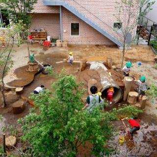 回遊性のある大きい子の庭